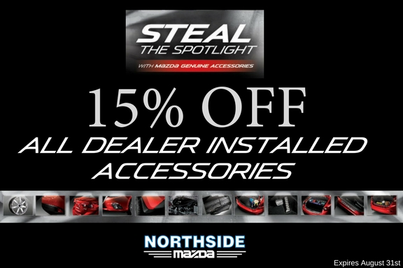 15% OFF ALL DEALER INSTALLED ACCESSORIES