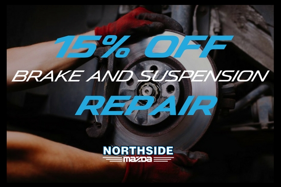 SAVE 15% ON BRAKE & SUSPENSION REPAIR